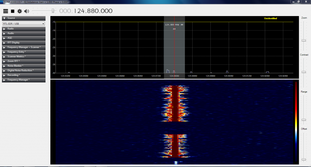 SDR Sharp on 124.880